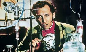 Peter Cushing as Dr. Frankenstein
